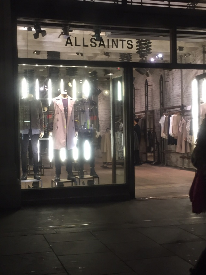 The fab new All Saints shop open on Oxford Street. I love this brand and always admire it on people but can't pull off the street look myself..